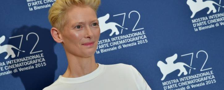 Actress Tilda Swinton on 6 September 2015. Picture: AFP.