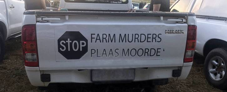 FILE: Farming communities protested against farm murders on 30 October 2017,  under the banner 'genoeg is genoeg' (enough is enough). Picture: Shamiela Fisher/EWN