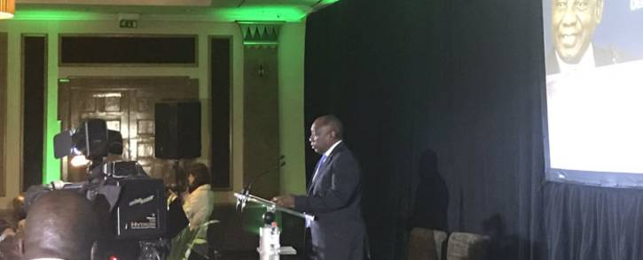 Cyril Ramaphosa is addressing the country's economic recovery plan at a gathering of the Black Business Council on 19 April 2017. Picture: Clement Manyathela/EWN.