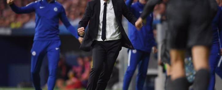 FILE: Chelsea manager Antonio Conte celebrates a goal. Picture: @ChelseaFC/Twitter