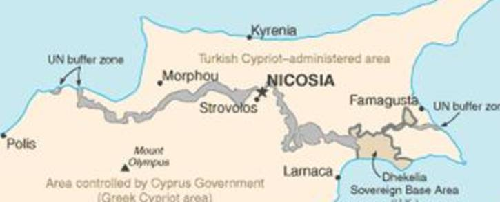 Map of Cyprus. Picture: Supplied