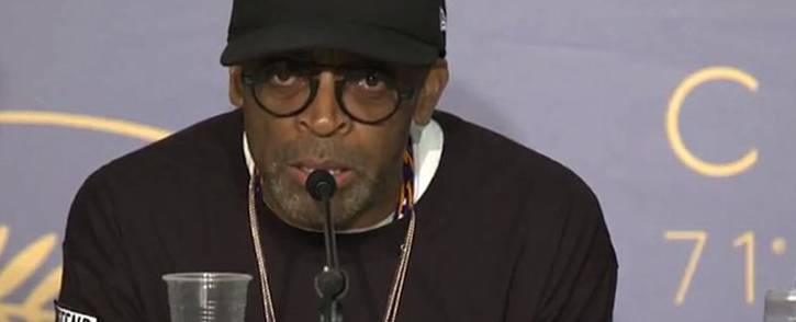 A screengrab of US film director Spike Lee called out US President Donald Trump after he premiered his film 'BlacKkKlansman' at the Cannes Film Festival.