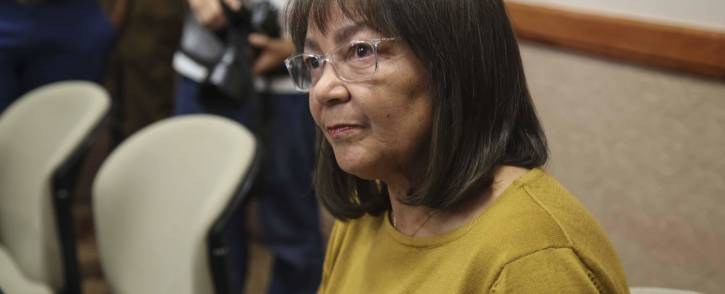 Patricia de Lille addresses the media in Cape Town following the DA's decision to rescind her membership on 8 May 2018. Picture: Cindy Archillies/EWN