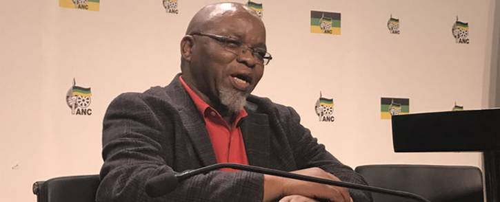 ANC secretary general Gwede Mantashe briefing the media on 29 May 2017 following the NEC meeting over the weekend. Picture: Kgothatso Mogale/EWN.