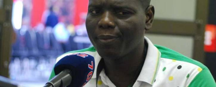 Former ANC youth league leader Ronald Lamola speaks to Radio 702 at the ANC national conference in Nasrec on 17 December 2017. Picture: Radio 702