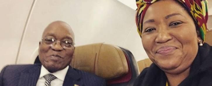 President Jacob Zuma and first lady Thobeka Madiba-Zuma. Picture: Instagram.com