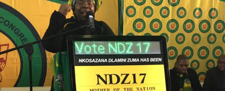 Nkosazana Dlamini-Zuma addressing the crowd in Kwaximba in KwaZulu Natla on 18 August 2017. Picture: Ziyanda Ngcobo/EWN