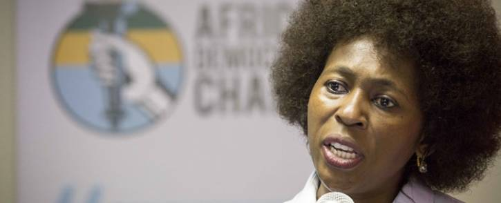 Makhosi Khoza launches her new party African Democratic Change in Braamfontein on Friday 1 December 2017, Johannesburg. Picture: Thomas Holder/EWN