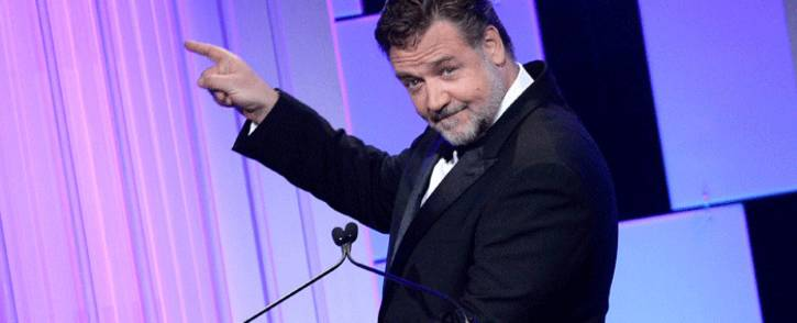 Actor Russell Crowe speaks onstage at the 30th Annual American Cinematheque Awards Gala at The Beverly Hilton Hotel on 14 October 2016. Picture: AFP