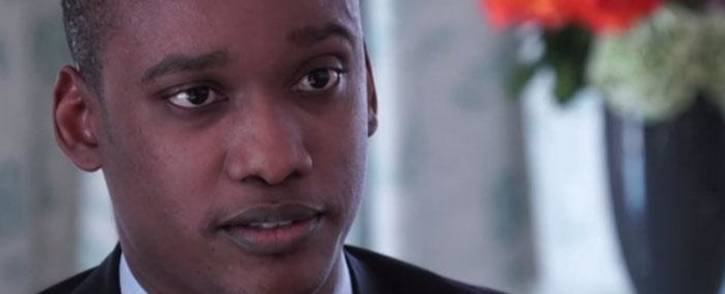 A screengrab of a BBC interview with Duduzane Zuma.