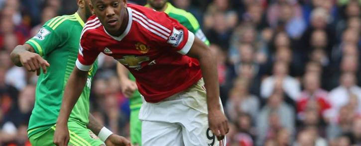 FILE: Manchester United Striker Anthony Martial fights for the ball during the English Premier League clash against Sunderland on 26 September 2015. Picture: Manchester United Facebook page.