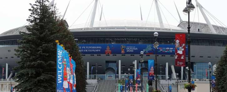 Saint Petersburg Stadium in Russia on 11 June 2018 ahead of the start of the 2018 Fifa World Cup. Picture: Reuters