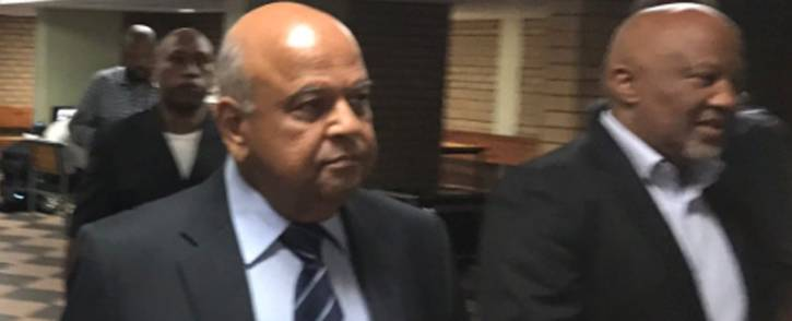 FILE: Pravin Gordhan and Mcebisi Jonas at the Pretoria High Court on 28 March 2017. Picture: Barry Bateman/EWN.