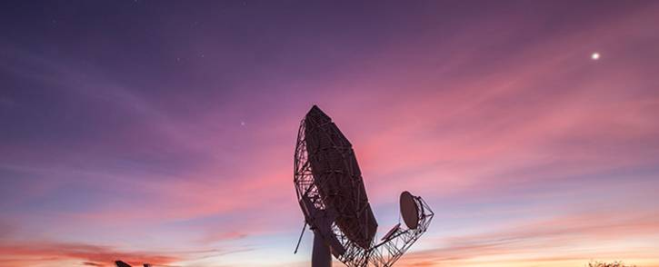 FILE: One of the Meerkat radio telescopes in the Northern Cape, as part of the SKA. Picture: SKA