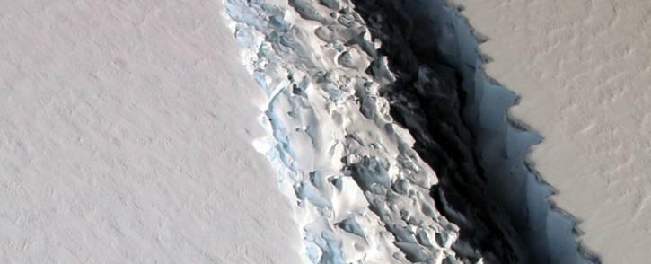 FILE: An image of the rift in Antarctica's Larsen C Ice Shelf taken in December 2016. Picture: Nasa/John Sonntag
