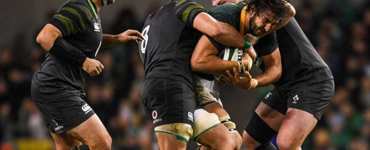 Ireland outplayed the Springboks, scoring a record 38-3 win in a disappointing start. Picture: Twitter @Springboks.