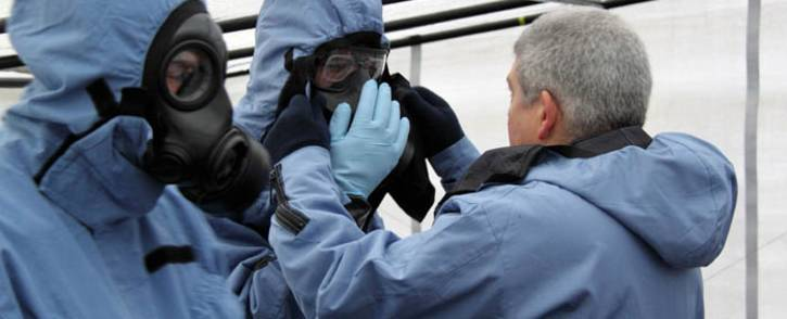 OPCW officials visit sites of a suspected chemical weapons attack in Syria. Picture: @UN/Twitter