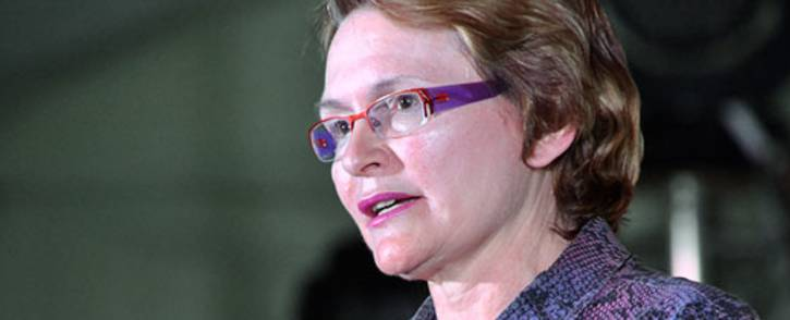 Western Cape Premier Helen Zille addresses a Heritage Day gathering in Gugulethu on 24 September 2012. Picture: Aletta Gardner/EWN