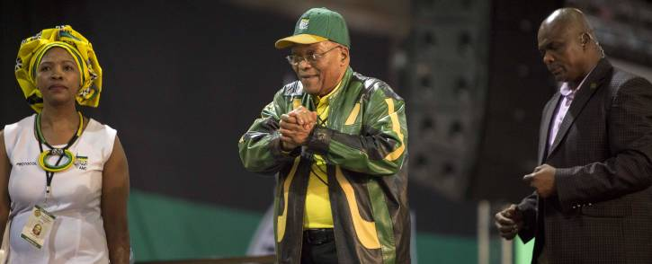 President Jacob Zuma arrives at the plenary at the start of the ANC's 54th national conference on 16 December 2017. Picture: Thomas Holder/EWN