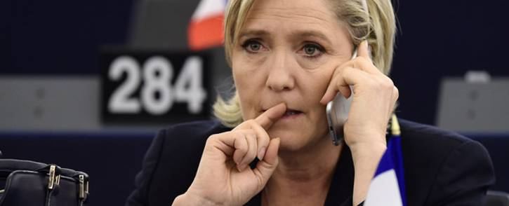 (FILES) This file photo taken on January 17, 2017 shows French Front National (National Front - FN) far-right party's President, European MP and presidential candidate for the 2017 election Marine Le Pen during a plenary session of the European Parliament marking the election of its new President in Strasbourg. Picture: AFP