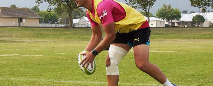 FILE: The Bulls' Handre Pollard in training. Picture: @BlueBullsRugby/Twitter