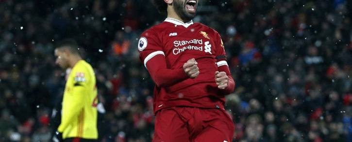 FILE: Liverpool's Mohamed Salah celebretes his goal against Watford in the English Premier League on 17 March 2018. Picture: Facebook.