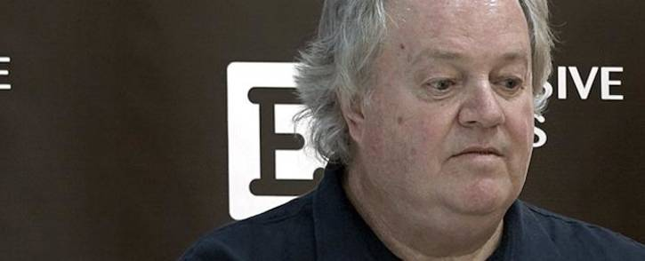 Veteran journalist Jacques Pauw, author of 'The President's Keepers', during the book launch at the Brooklyn Mall in Pretoria on 9 November 2017. Picture: Louise McAuliffe/EWN