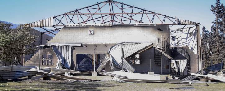 Mary-Ann's Emporium & Eatery on Sir Lowry's Road burnt down during a fire in the Gordon's Bay area.  Picture: Cindy Archillies/EWN