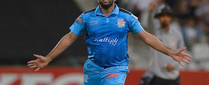 Tabraiz Shamsi took 4 for 32 in the semi-final against the Warriors. Picture: Twitter/@Titans_Cricket