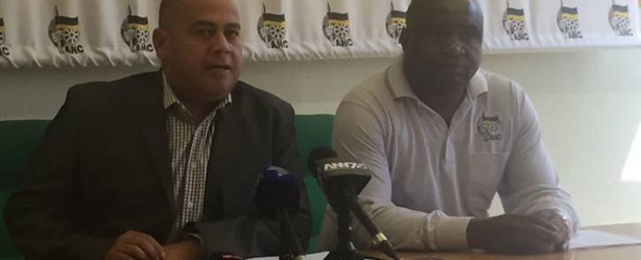 FILE: Western Cape ANC provincial secretary general Faiez Jacobs (left) at a press briefing. Picture: Lindsay Dentlinger/EWN.