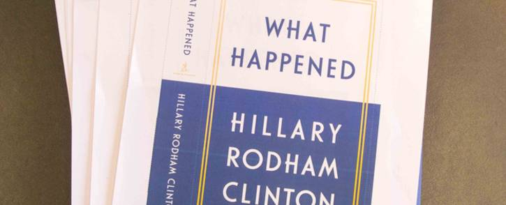 """A screengrab showing copies of Hillary Clinton's memoir called """"What Happened"""". Picture: @HillaryClinton/Twitter."""