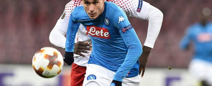Napoli's Jose Callejon cahses the ball. Picture: @sscnapoli/Twitter