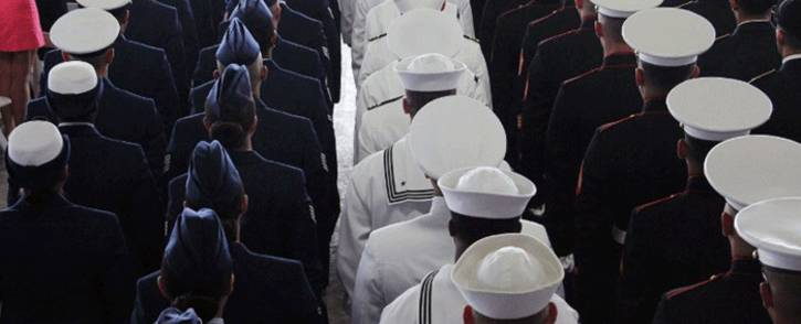 Members of the military attend the change-of-command ceremony for the US Pacific Command in Pearl Harbor on 30 May, 2018 in Hawaii. Picture: AFP.