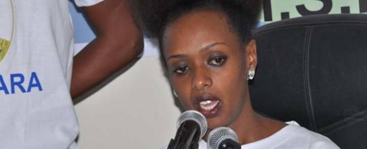 FILE: Rwandan opposition politician Diane Rwigara. Picture: @ShimaRwigara/Twitter.
