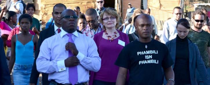 FILE: Bonginkosi Madikizela and Helen Zille. Picture: EWN