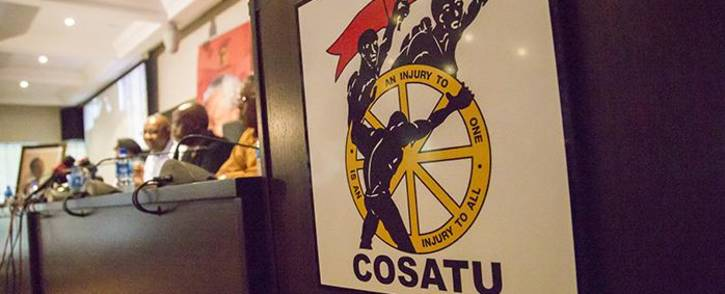 FILE: Cosatu's top brass addresses the media at Cosatu House in Braamfontein. Picture: EWN.