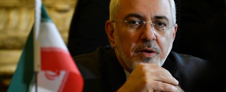 Iran Foreign minister Mohammad Javad Zarif Khonsari talks with Belgian Foreign minister before their meeting at the Palais Egmont in Brussels on 11 January 2018. Picture: AFP