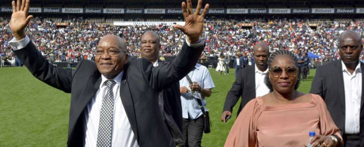 President Jacob Zuma at the Universal Church of the Kingdom of God Good Friday event at the Ellis Park Stadium on Friday, 14 April 2017. Picture: Twitter: @PresidencyZA