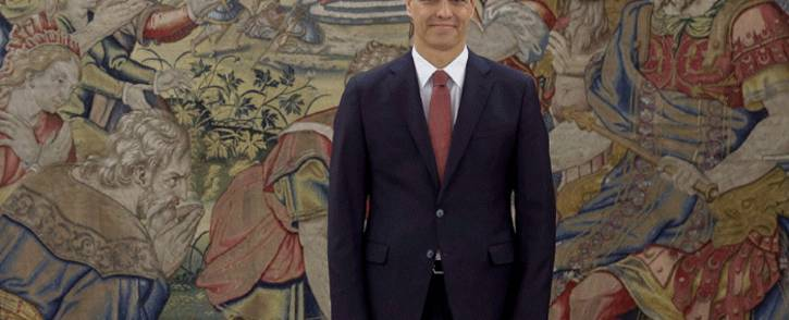 Spain's Prime Minister Pedro Sanchez smiles during a swearing-in ceremony at the Zarzuela Palace near Madrid on 2 June 2018. Picture: AFP.