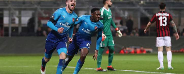 Arsenal's Aaron Ramsey celebrates his goal during Arsenal's Europa League match against AC Milan on 8 March 2018. Picture: @Arsenal/Twitter
