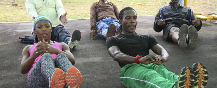 Gugulethu residents feel the fitness at the Asiphelimoya gym. Picture: Cindy Archillies/EWN