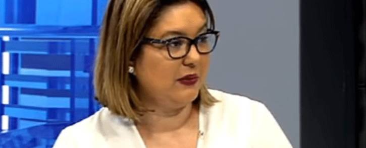 FILE: A screengrab of Eskom's Head of Legal and Compliance Suzanne Daniels.
