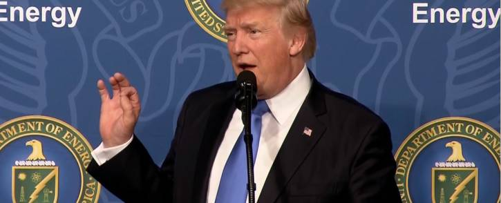 President Donald Trump speaking at the White House in Washington DC. Picture: Screengrab/CNN