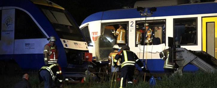 A goods train and a passenger train collided in southern Germany on 7 May 2018. Picture: @YanniKouts