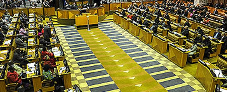 FILE: Parliament during a voting session. Picture: GCIS