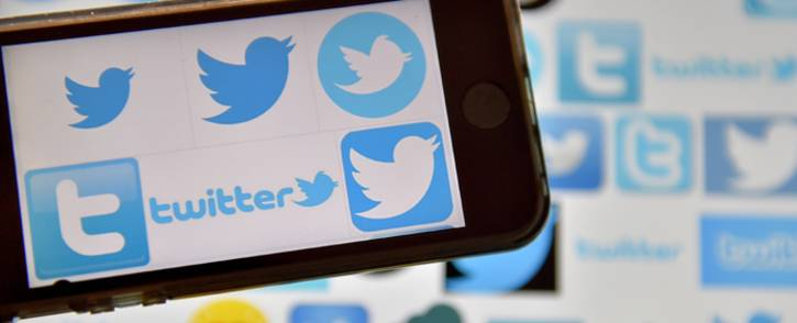 Logos of US online news and social networking service Twitter. Picture: AFP.