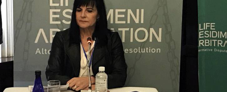 Sandra de Villiers testifies at the hearings into the Esidimeni tragedy about her brother's death. Picture:  Masego Rahlaga/EWN.