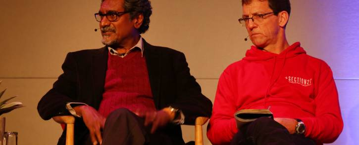 Jay Naidoo and Mark Heywood at The Gathering: Media Edition at the Cape Town International Convention Centre on 3 August 2017. Picture: Bertram Malgas/EWN.