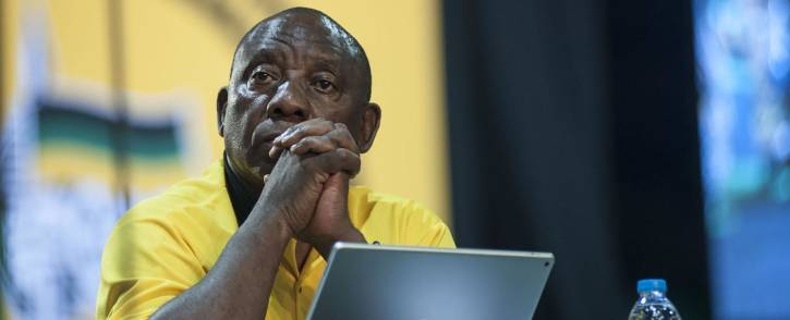 Cyril Ramaphosa during the nominations process at the ANC's national conference on 17 December 2017. Picture: Ihsaan Haffejee/EWN