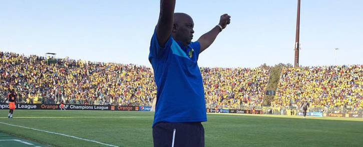FILE: Mamelodi Sundowns coach Pitso Mosimane celebrates a win. Picture: Sundowns Twitter: @Masandawana